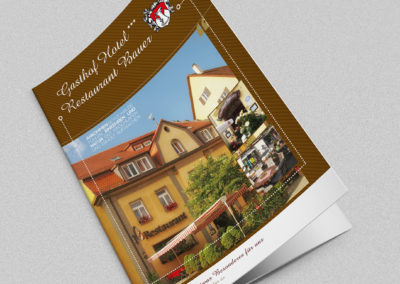 Cafe Bauer - Entwurf für Folder